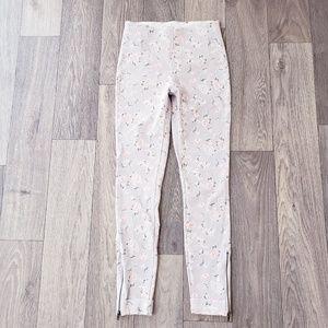 Lysse  Pink Floral Print Cropped Stretch Legging